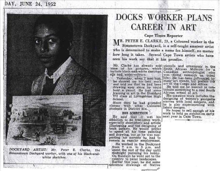Docks worker plans career in art