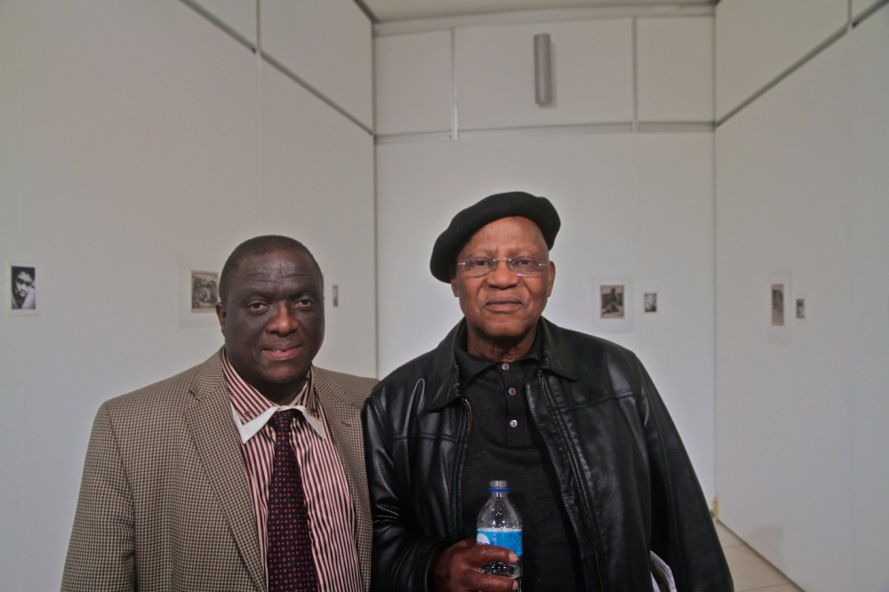 Ben Mokoena trustee Arts and Ubuntu Trust with Prof Ntuli