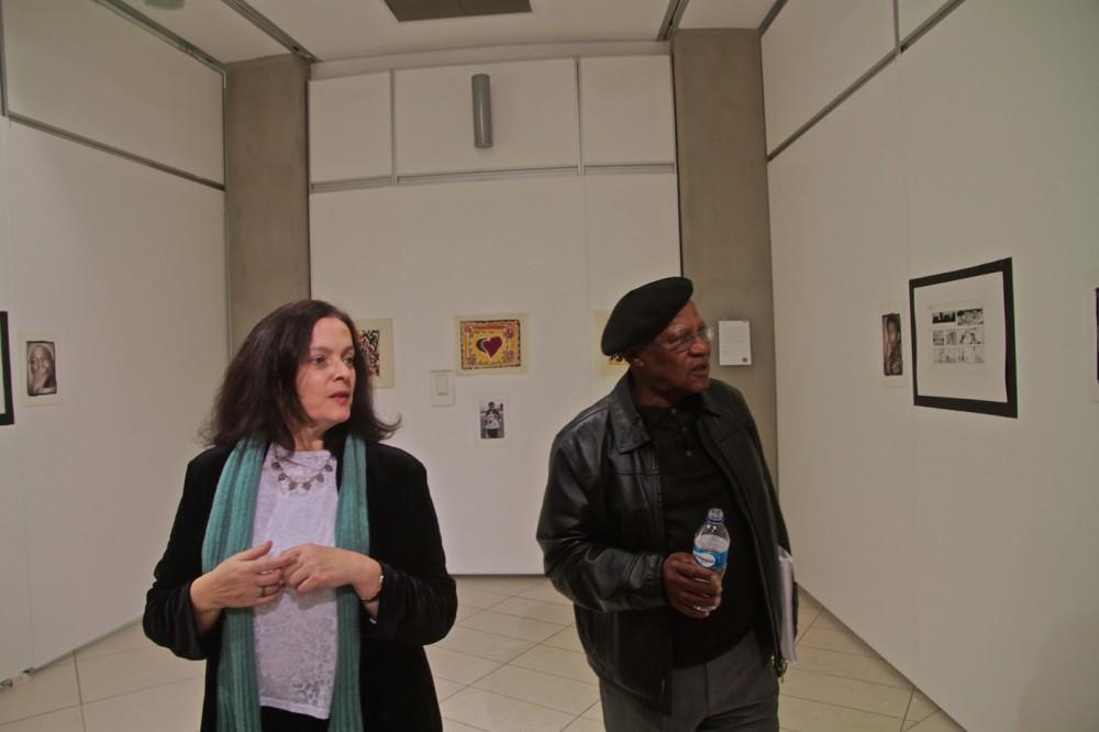 Bridget Thompson Exec trustee Arts and Ubuntu Trust with Prof Ntuli
